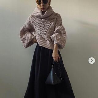Ameri VINTAGE - undressed geometrcutting knit 新品タグ付き ピンク