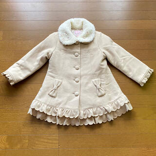 Shirley Temple - ☆シャーリーテンプル☆ウール 上品なコート 美品 ベージュ系 120