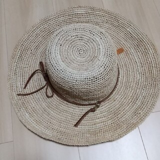 イルビゾンテ(IL BISONTE)のイルビゾンテ 麦わら帽子 新品 レザー ストロー ハット財布 バッグ レディース(麦わら帽子/ストローハット)