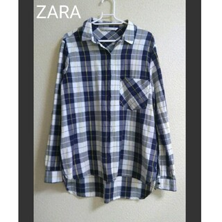 ZARA - 【美品】ZARA ゆったりチェックシャツ 長袖