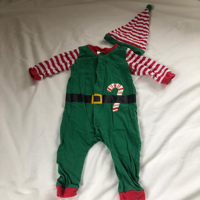 H&M(エイチアンドエム)のクリスマス ロンパース  キッズ/ベビー/マタニティのベビー服(~85cm)(ロンパース)の商品写真