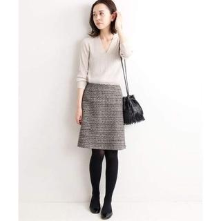 IENA - IENA TWEEDスカート 36 ブラック