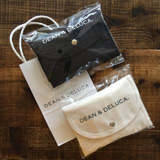 DEAN & DELUCA - ディーン&デルーカ ショッピングバッグ ブラック&ナチュラル 2個セット