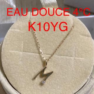 4℃ - EAU DOUCE 4℃【K10YG】ダイヤ イニシャル ネックレス M