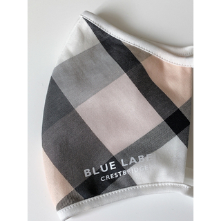 BURBERRY BLUE LABEL - ブルーレーベルクレストブリッジ クレストブリッジチェックマスク エクリュ