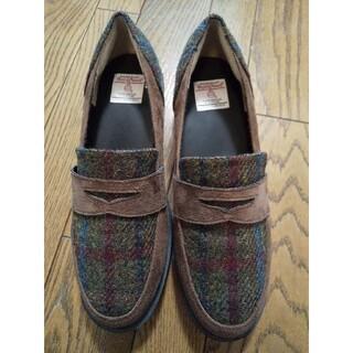 シマムラ(しまむら)のハリスツィード靴(スリッポン/モカシン)