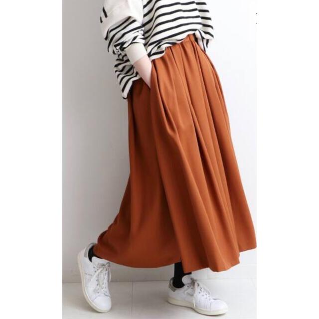 IENA(イエナ)の新品タグ付き★IENA☆ANASTASIAランダムタックスカート★オレンジ38 レディースのスカート(ロングスカート)の商品写真