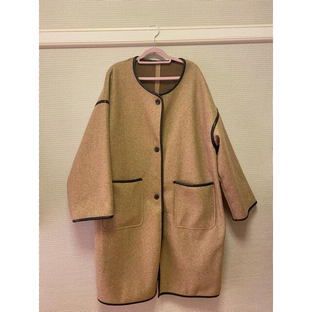 RETRO GIRL(レトロガール)のパイピングコート(レトロガール) レディースのジャケット/アウター(ノーカラージャケット)の商品写真