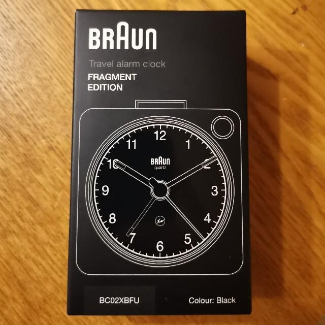 FRAGMENT(フラグメント)のBRAUN × fragment design BC02XBFU ブラック インテリア/住まい/日用品のインテリア小物(置時計)の商品写真