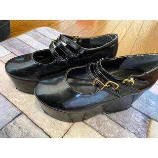 ブラウニー(BROWNY)の厚底☆レディースシューズ☆M(ローファー/革靴)