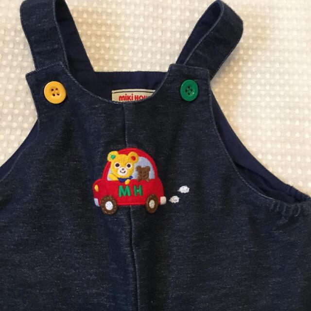 mikihouse(ミキハウス)のミキハウス ロンパース オーバーオール 80 キッズ/ベビー/マタニティのベビー服(~85cm)(ロンパース)の商品写真