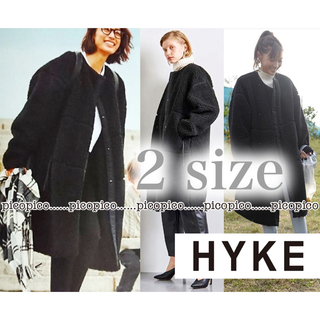 HYKE - 今季 HYKE ハイク ボアコート 2 ボア コート ブラック 黒 1 レア