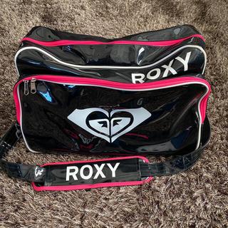 ロキシー(Roxy)のROXY エナメルバッグ 黒×白×ピンク(その他)