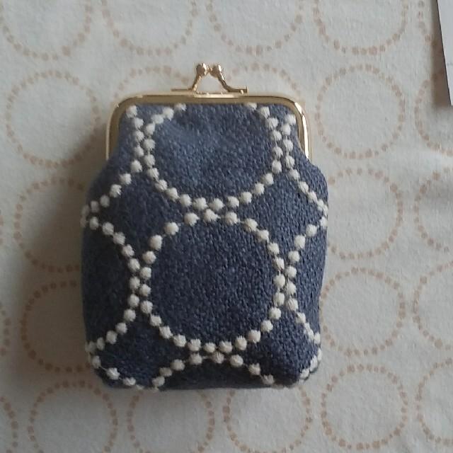 ミナペルホネンーハンドメイド❤skip&タンバリン カードケースがま口 レディースのバッグ(ハンドバッグ)の商品写真