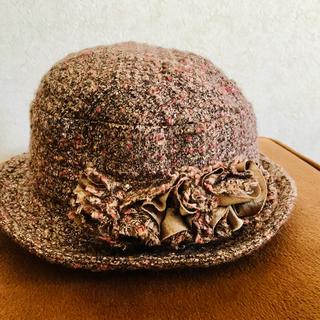美品!ラメ入り 暖かい 婦人ウール帽子 ハット(ハット)