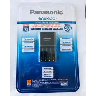 パナソニック(Panasonic)の【新品】エネループ 充電器 単四4本 単三8本 セット(その他)