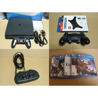 PlayStation4 - プレイステーション4 CUH-2000A コントローラー2個 ソフト5本 ps4
