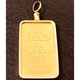 K18 ゴールドペンダント 10g クレディスイス 11.6g(ネックレス)