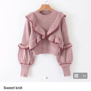 NICE CLAUP - sweemy closet sweet knit ピンク