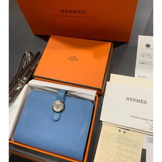 Hermes - 数回 ¥14.3万品 エルメス  ドゴン SV カードケース ブルージーン 箱