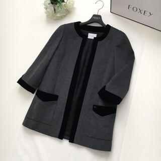 FOXEY - 【美品】定価13万円 FOXEY フォクシー カシミヤ ウール 掲載 コート