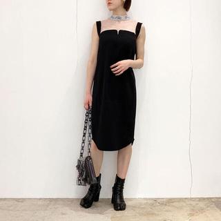 mame - 【格安】【新品未使用】mame  ドレス ノースリーブ  ブラック
