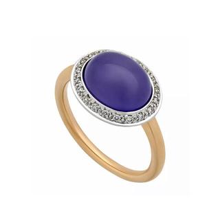 ブルガリ(BVLGARI)の35万MIMI MILANOミミミラノ18Kラベンダージェイドダイヤモンドリング(リング(指輪))