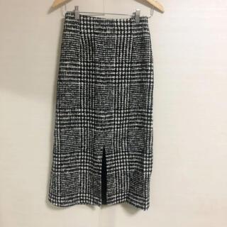 トゥモローランド(TOMORROWLAND)の新品同様美品 TOMORROWLAND Ballsey チェック ロングスカート(ロングスカート)