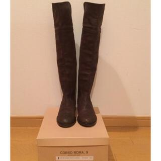 美品 コルソローマ9  2way  本革ニーハイブーツ 23,5センチ(ブーツ)