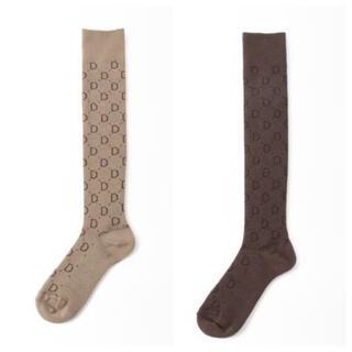 DEUXIEME CLASSE - Deuxieme Classe jacquard socks ブラウン ベージュ