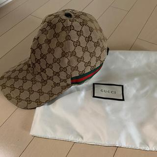 Gucci - グッチ GUCCI キャップ 帽子 ベースボール ブラウン