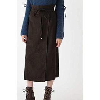JILLSTUART - ノアフェイクスエードラップ風スカート