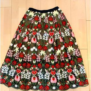 Chesty - Chesty フラワー 刺繍スカート