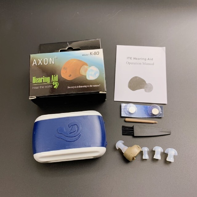 集音器 専用ケース付き スマホ/家電/カメラのオーディオ機器(ヘッドフォン/イヤフォン)の商品写真