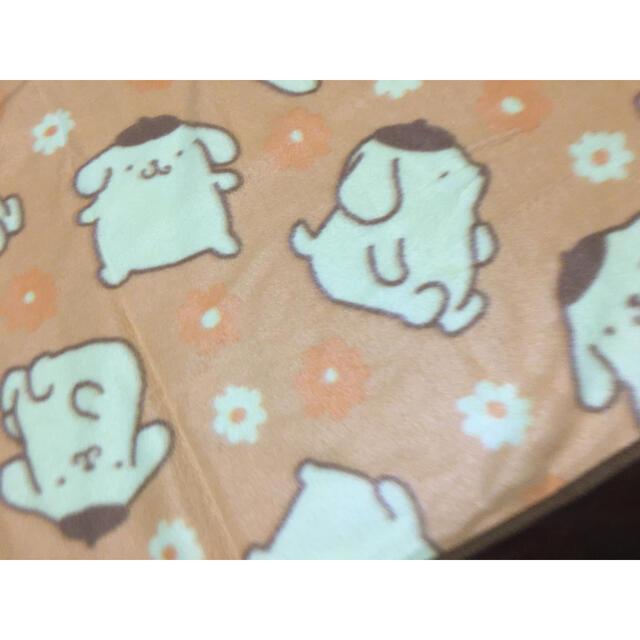 ポムポムプリン(ポムポムプリン)の膝掛け ブランケット ポムポムプリン エンタメ/ホビーのおもちゃ/ぬいぐるみ(キャラクターグッズ)の商品写真