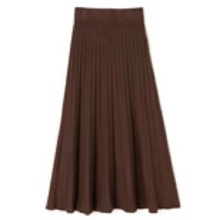 GRL - 【GRL】ニットプリーツスカート【ブラウン】