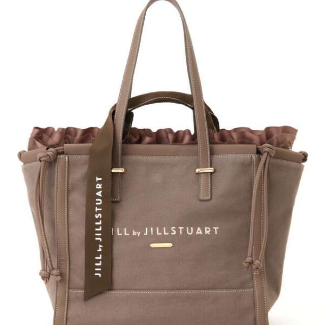 JILL by JILLSTUART(ジルバイジルスチュアート)の新品☆フリルレイヤードバッグ☆モカ レディースのバッグ(トートバッグ)の商品写真