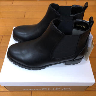 スタディオクリップ(STUDIO CLIP)のstudio clip サイドゴアブーツ Lサイズ 黒(ブーツ)