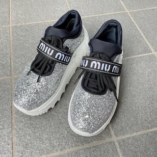 miumiu - miu miu ♥︎ グリッタースニーカー