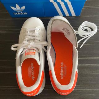 adidas - スタンスミス 24cm オレンジ ネオン アディダス