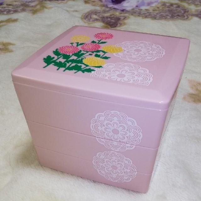 草花木果(ソウカモッカ)の3段  重ね弁当箱 インテリア/住まい/日用品のキッチン/食器(弁当用品)の商品写真