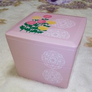 ソウカモッカ(草花木果)の3段  重ね弁当箱(弁当用品)