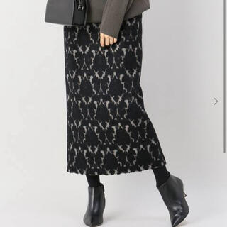 IENA - IENA シャギージャガードペンシルスカート 36