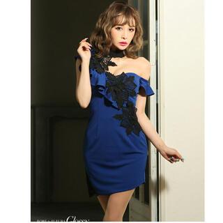 ローブ(ROBE)のローブドフルール♡ワンショルフラワーレースドレス(ミニドレス)