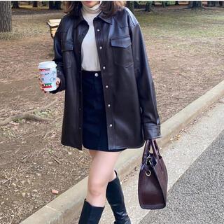 powantolune   fake leather Jacket(レザージャケット)