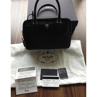 プラダ(PRADA)のプラダ♡サフィアーノ ハンドバッグ 黒 百貨店内ショップ購入 正規品(ハンドバッグ)