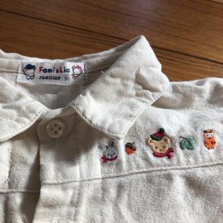 familiar - レア!レトロ オールド ファミリア 刺繍 シャツ ブラウス