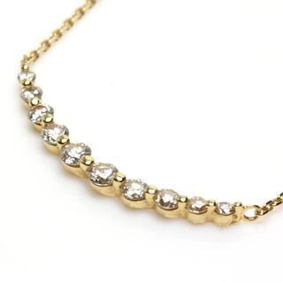 Vendome Aoyama - ヴァンドーム K18YG ダイヤモンド リュール ネックレス 10P 0.30