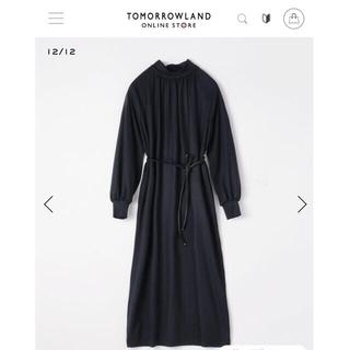 トゥモローランド(TOMORROWLAND)のTOMORROWLAND collection ハイネックギャザーワンピース(ロングワンピース/マキシワンピース)