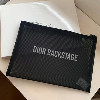 Dior - dior backstage メッシュポーチ 黒 ノベルティ